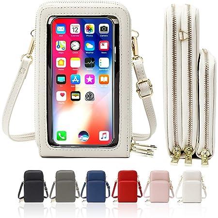 HAIWILL Handy Umhängetasche Damen Touchscreen Tasche Handy Wasserdicht Handtasche Schultertasche Leder Frauen Brieftasche Retro Crossbody kleine Handy Tasche für iPhone 11 Pro/11/Xs Max/XR/Xs