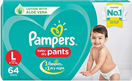 Pampers New Diapers Pants, Large (64 Count)