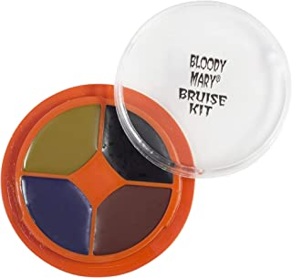 Special Effects Bruise Makeup Kit By Bloody Mary - Theatrical & Halloween Bruising Palette - SFX Fake Bruise Wheel For Fresh, Black, Blue, Old & Healing Bruises - Non Toxic