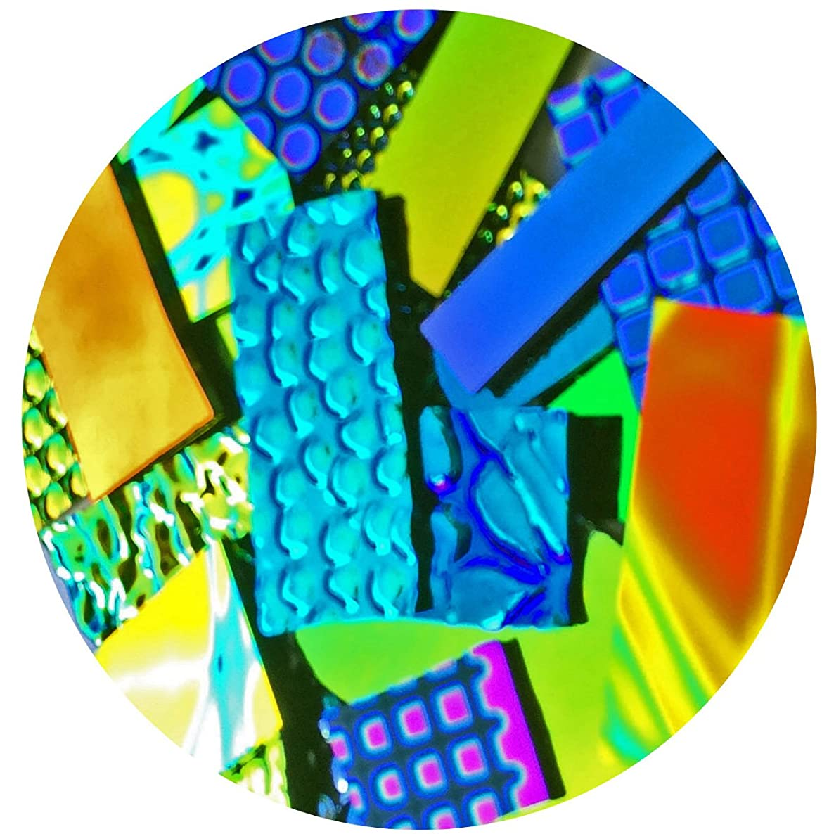Assorted Dichroic on Clear Glass Pieces - 4 oz, 96 COE