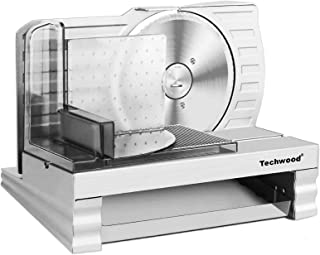 Food Slicer Techwood Pro Electric Meat Slicer with Removable 6.7
