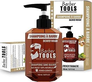 Champú sin sulfato para la barba - 150ml basado en Aceite de Argan y Aceite de Jojoba | Para el mantenimiento y cuidado de...