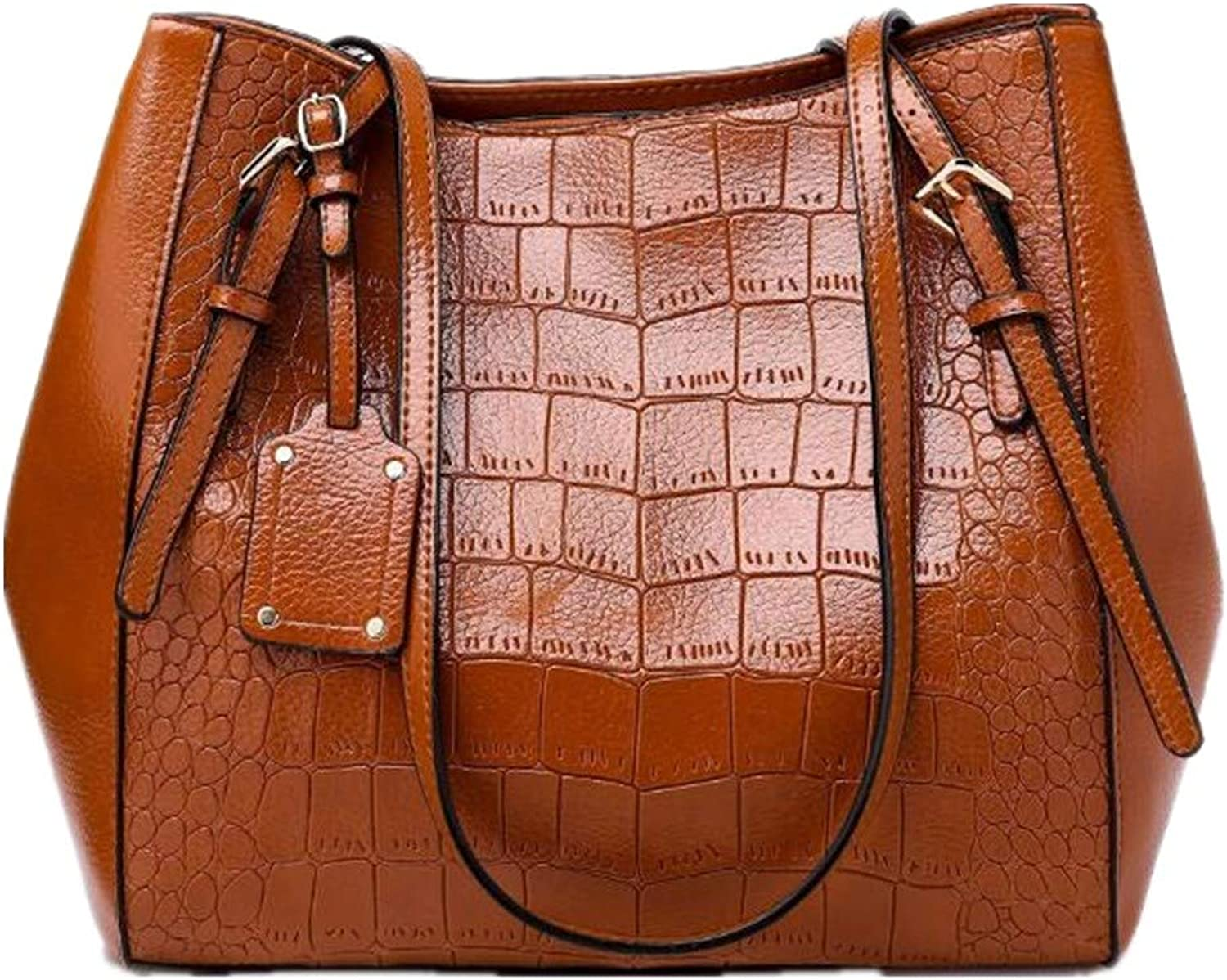 NZZNB Large Capacity Single Shoulder Bag Crocodile Pattern Handbag Fashionable Lady Bag Inclined Bag Top-Handle Handbags