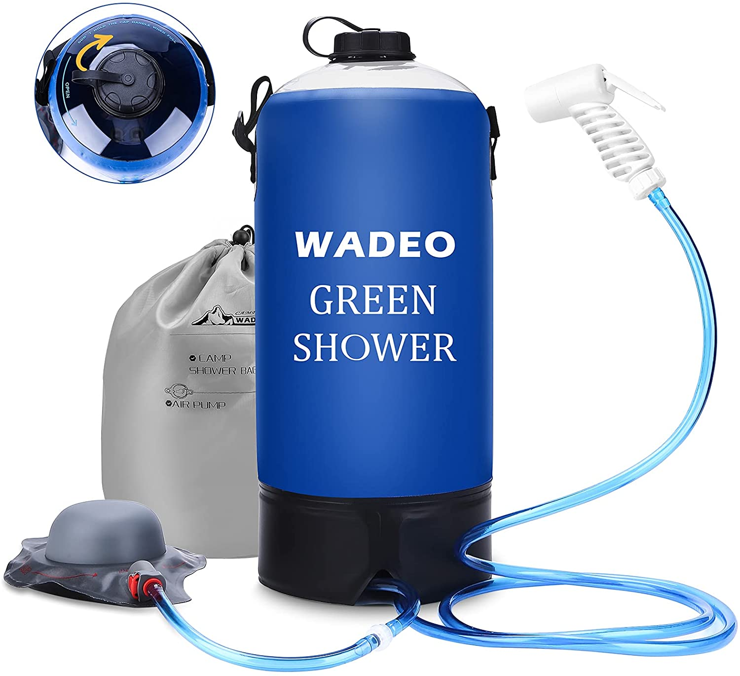 WADEO Upgrade Camping Shower Ranking TOP4 12L Pressure Gallons Ca 3 Denver Mall Portable