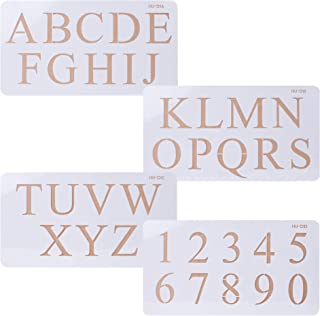 Cake Alphabet Number Acrylic Stencils 2 Inch Times New Roman Set of Four for Cake Art Crafts Painting