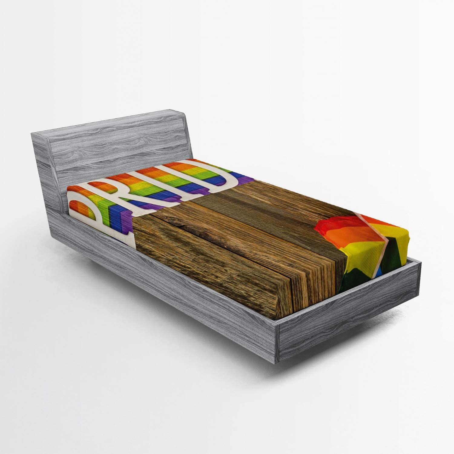Omaha Mall Lunarable Pride Fitted Sheet Photo OFFicial store Gay of March Celebration Orn