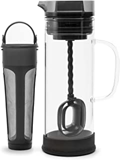 Primula Cold Brew Glass Coffee Maker – Borosilicate Glass Carafe and Stainless Steel Mesh Core – Dishwasher Safe – 50 oz. ...