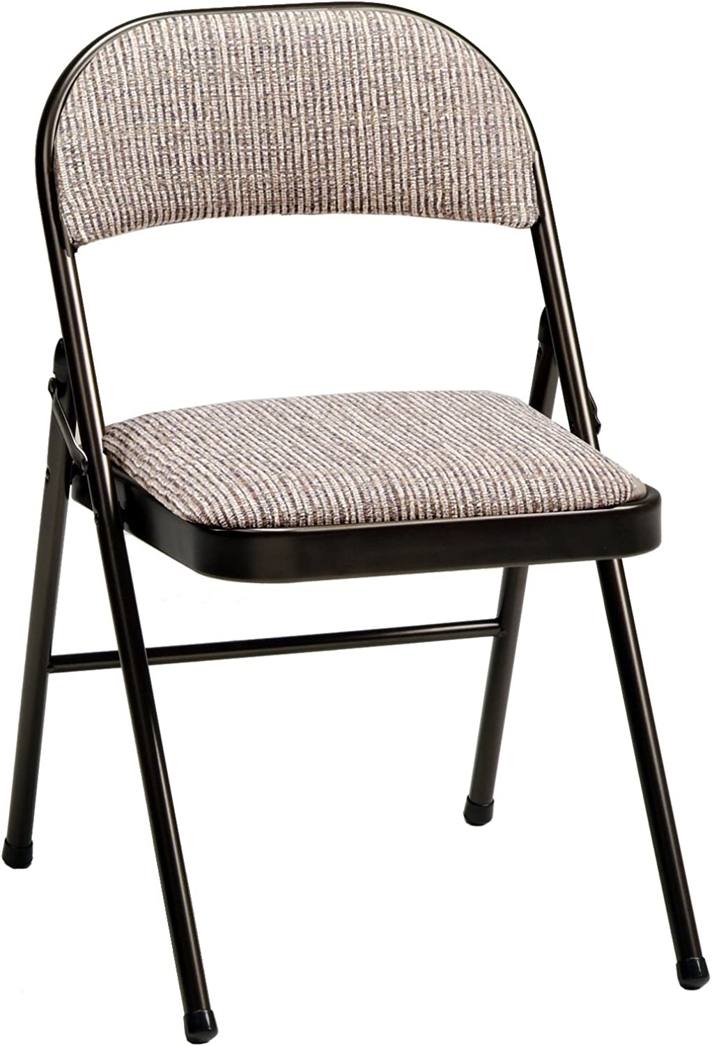 Amazon Com Meco 4 Pack Deluxe Fabric Padded Folding Chair Cinnabar Frame And Motif Fabric Seat And Back Furniture Decor