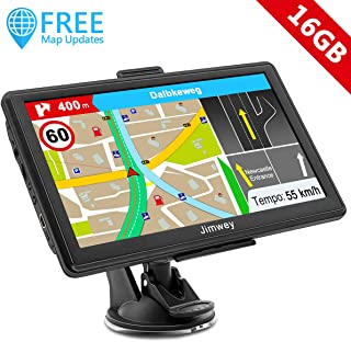 Hieha 7 Inch Navigation GPS Navigation Device for Lorries Cars Bluetooth Europe Traffic Android 16GB 512MB Flash Alerts POI Lane and Parking Assistant Lifetime Free Map Updates