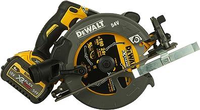 Dewalt DCS575T2-QW Sierra circular sin escobillas XR Flexvolt 54V con 2 baterías 54V/18V Li-Ion 6, 0 W, 54 V, negro, amarillo