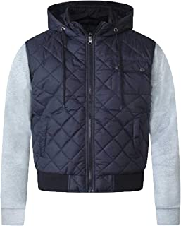 D555 Mens Jacket Duke Big King Size Padded Shower Proof Coat Hoodie Sweat Sleeve