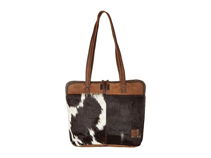 STS Ranchwear Cowhide Laptop Shopper Tote Bag
