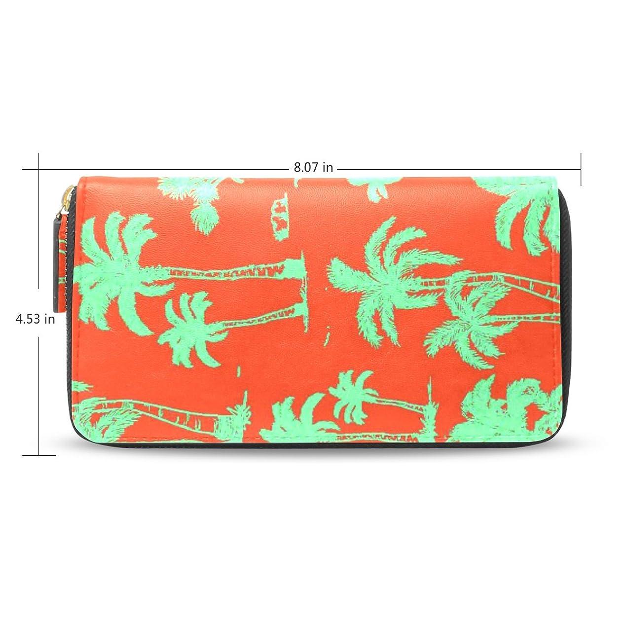 種類延ばす悪性のレディース抽象Coconut Trees Palm Pattern Long Wallet &財布ケースカードホルダー