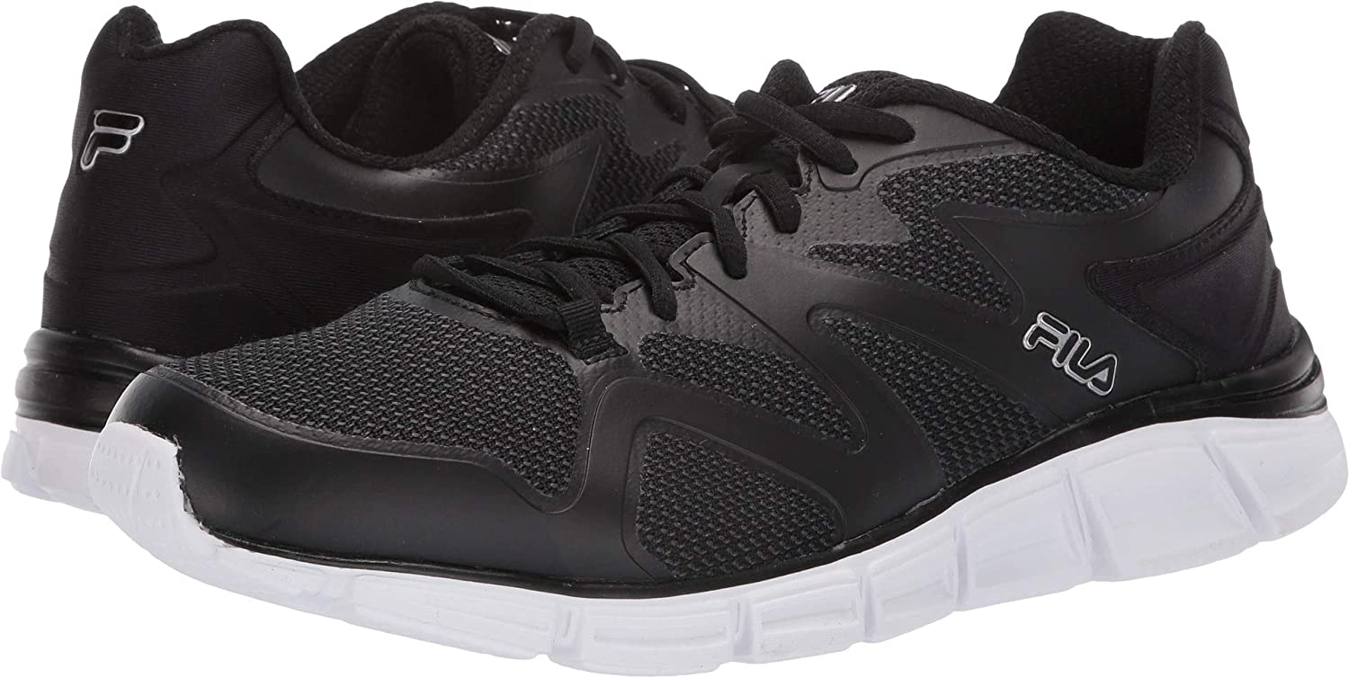Fila Memory Cryptonic 2 Mens Black Lace Up Running Sneakers shoes (8.5 US)