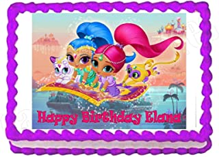 Cakes for Cures Shimmer and Shine Party Edible Cake Image Cake Topper Frosting Sheet Party