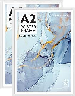 Cooper & Co. Homewares A2 Poster Photo Frames Set of 2, White