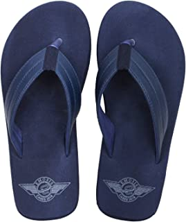 Emosis Men's Flip-Flop Slipper - Latest & Stylish Light Weight Rubber Material - for Casual Outdoor Daily Use Unisex - Multi-Color - 0272M