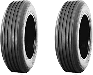 (Set of 2) 11L-15 F Tubeless Heavy Duty 12-ply Rated Alliance Farm Rib Implement Agricultural Tires with 3,200 lb load capacity @ 52 PSI