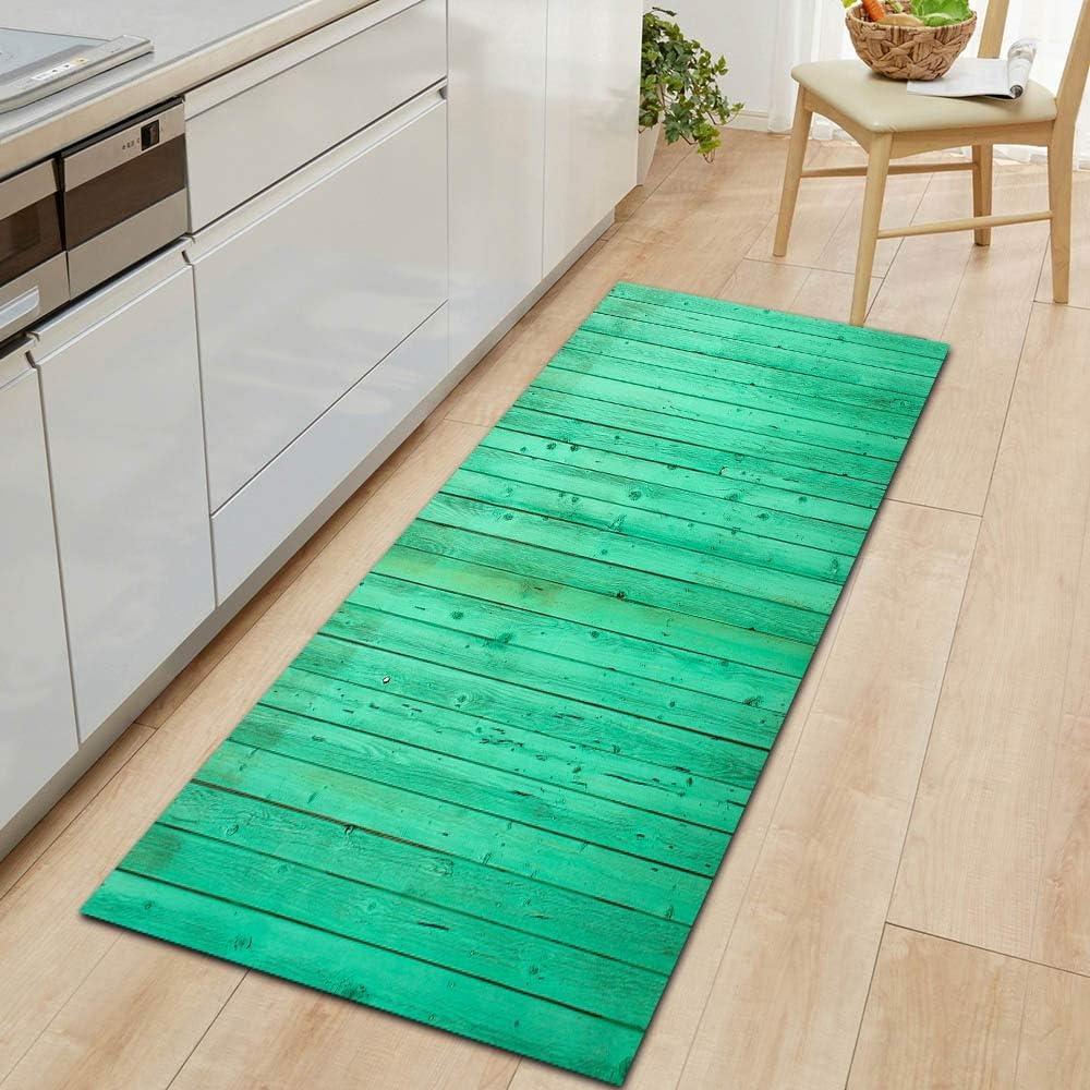 OPLJ Simple and Colorful Sale Wood Grain Door Genuine Bedr Carpet Kitchen mat