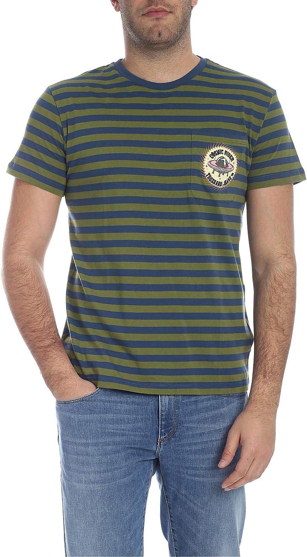 TRUSSARDI Men's 52T002061T002267G260 Green Cotton TShirt