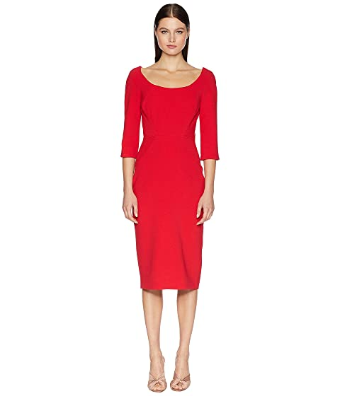 Zac Posen Long Sleeve Bonded Crepe Dress