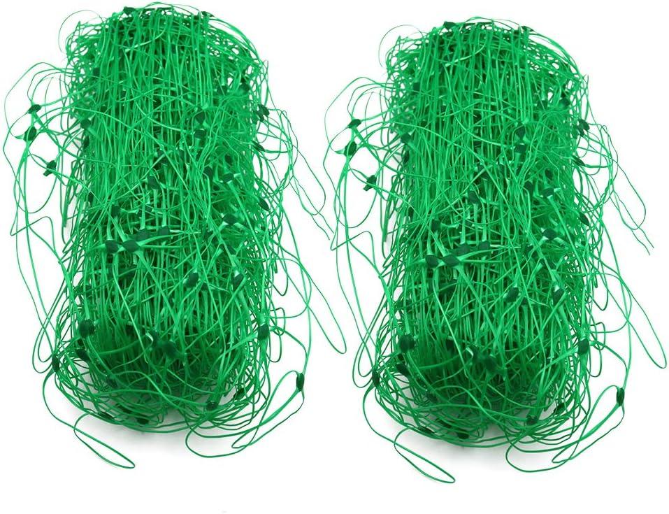 KINGLAKE Plastic Garden Trellis Net,Green Trellis Netting for Climbing Plants,2 Pcs 5.6 X13 ft