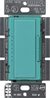 Lutron MSCELV-600M-TQ Maestro 600-watt Electronic Low Voltage Multi-Location Digital Dimmer, Turquoise, 1-Pack