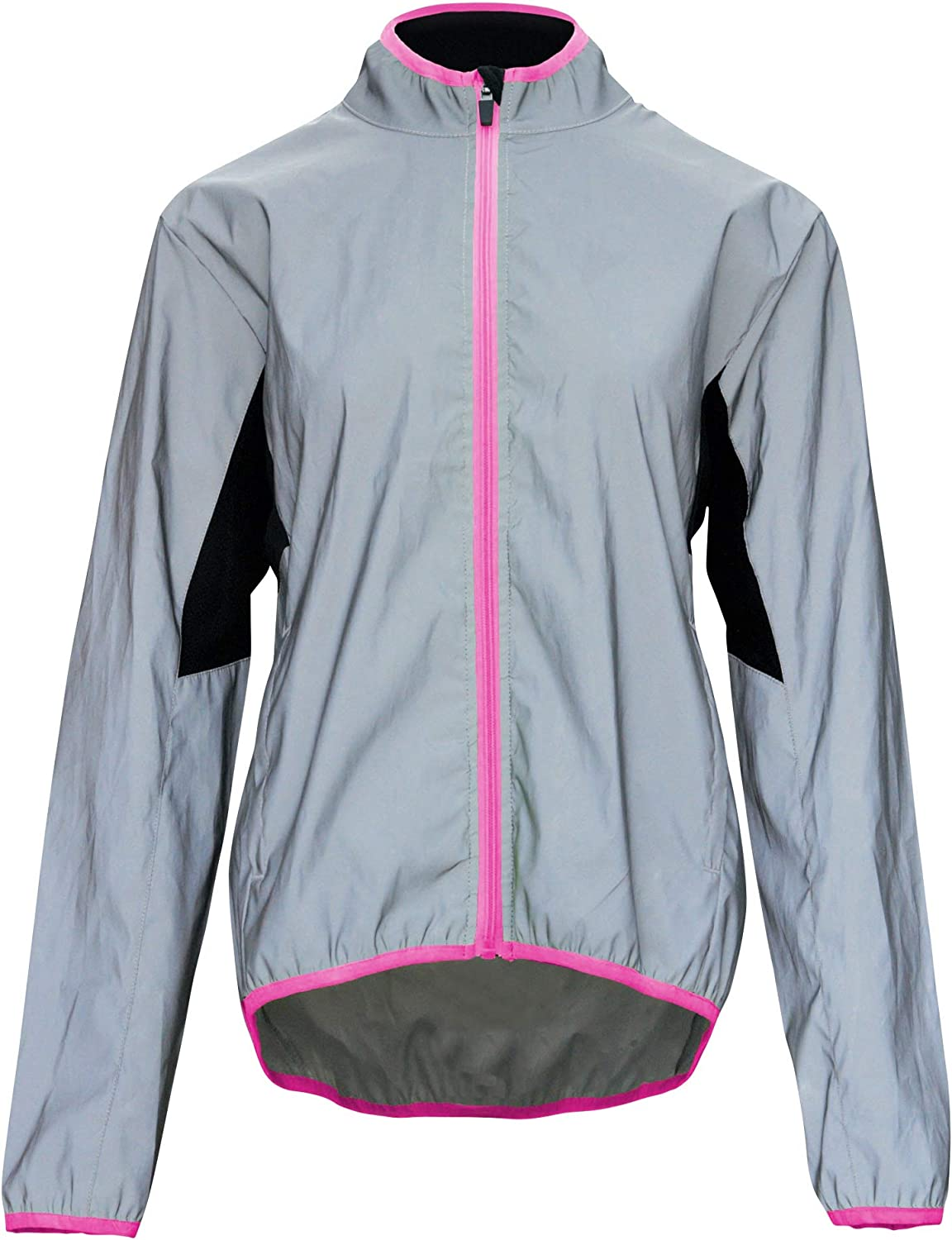 Bpbtti Women's Reflective Safety Running Cycling Jackets Lightweight Windbreaker- Full Front Zipper & Two Side Pockets : Clothing, Shoes & Jewelry