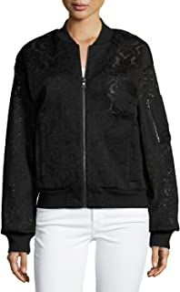 Brice Lace Embroidered Bomber Jacket