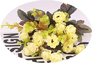 1bouquet Small Silk Daisy Artificial Set Flowers Decorative Fake Silk Flowers Table Decoration Flowers Bedroom Home Decor,White