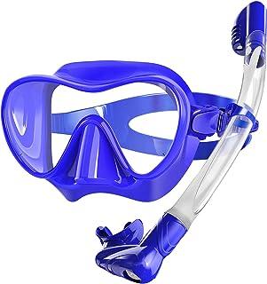 Bairuifu Snorkel Mask, Foldable Dry Top Snorkel Set Anti-Fog Tempered Glass Scuba Mask,Professional Snorkeling Gear for Ad...