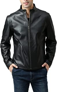BGSD Men's Urban Motorcycle Leather Jacket