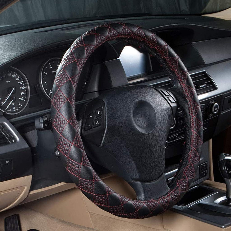 Car Steering Wheel Cover Four Seasons Universal Comfortable Leather Beautiful and Geblackus