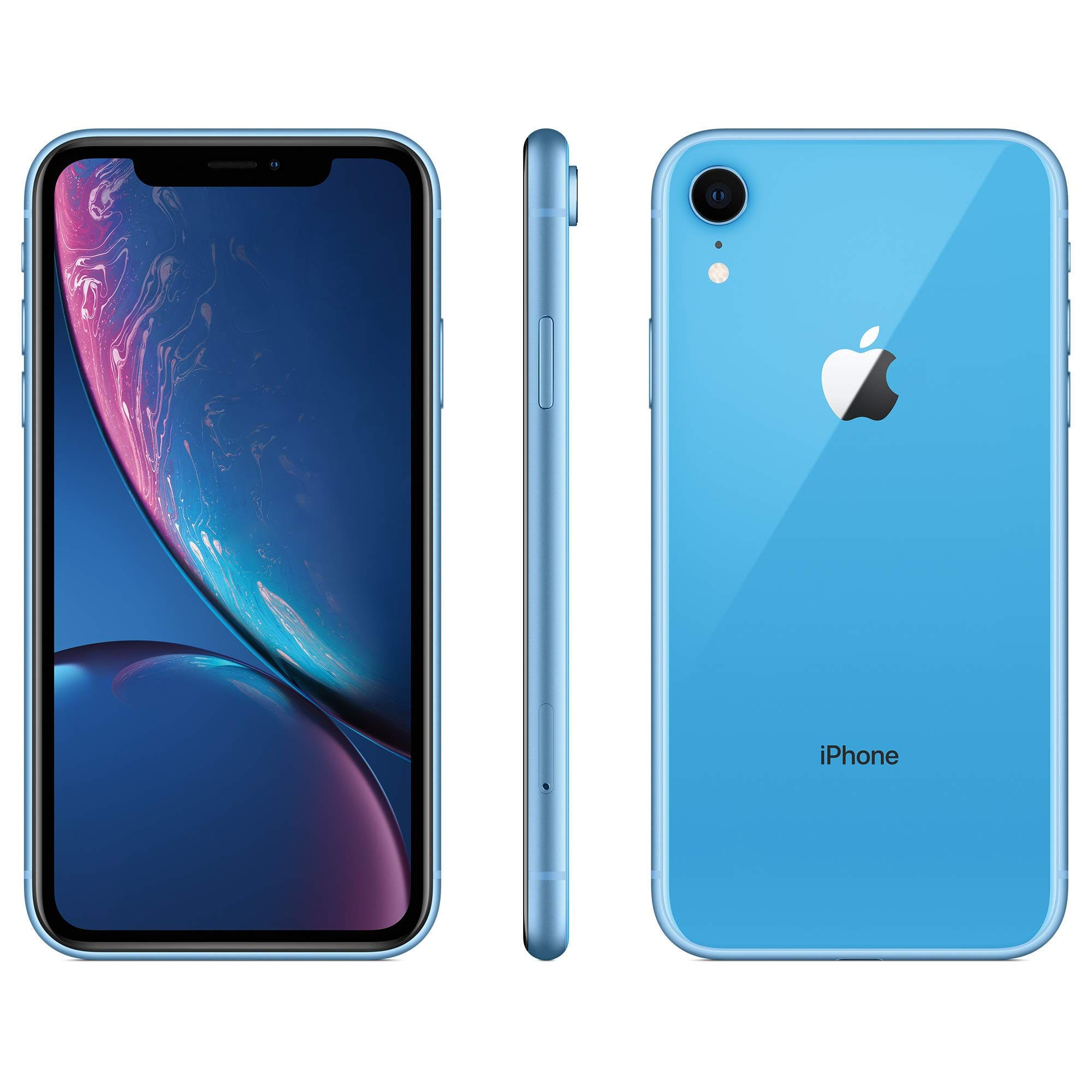 Apple iPhone XR, 128GB, Blue - For T-Mobile (Renewed)