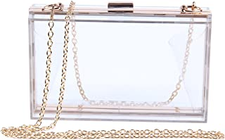 LUI SUI Women Fashion Acrylic Transparent Evening Clutches Banquet Chain Shoulder bag