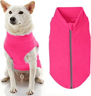 Gooby Zip Up Fleece Dog Sweater - Pink, 3X-Large - Warm Pullover Fleece Step-in Dog Jacket Without Ring Leash - Winter Sma...