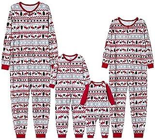 ijamas Familiares Navideñas Pijama Navidad Familia Mono Navideños Mujer Niños Niña Hombre Pijama Reno Entero Una Pieza Trajes para Navidad Pijamas