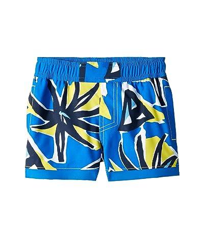 Columbia Kids Sandy Shorestm Boardshorts (Toddler) (Autzen Retro Palms Print/Super Blue) Boy