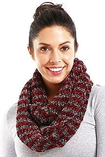 ScarvesMe Women's Striped Warm Solid Soft Cozy Chenille Infinity Scarf