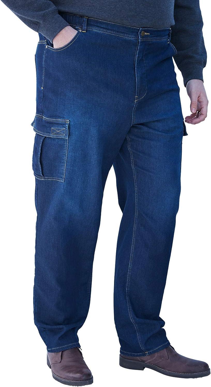 KingSize Men's Big & Tall Relaxed Fit Cargo Denim Sweatpants Jeans