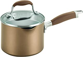 Anolon 83631 Advanced  Hard Anodized Nonstick Sauce Pan/Saucepan with Straining and Lid, 2 Quart, Brown