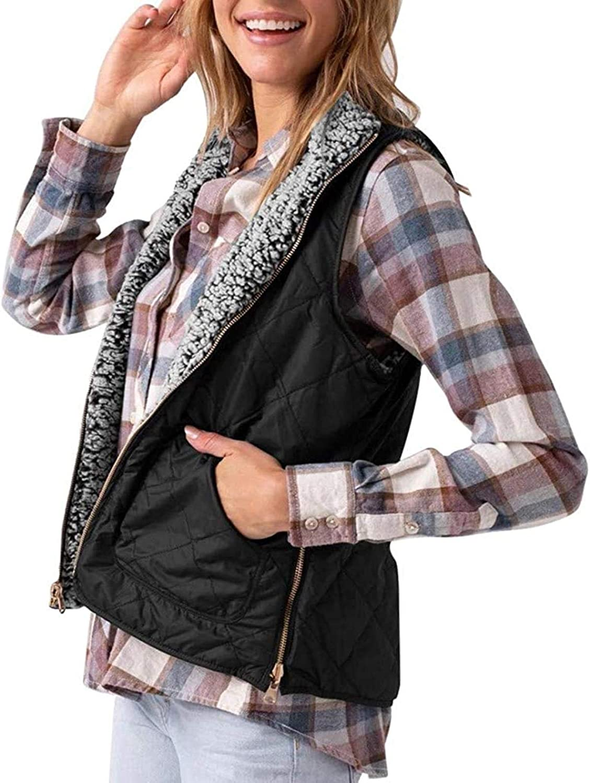 Women's Casual Max 60% Japan Maker New OFF Sherpa Faux Fleece Fall Zipper V Warm Lightweight