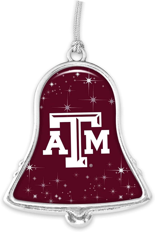 Texas Luxury AM Aggies TAMU Silver Bell Christmas Popular product Ornamen Metal
