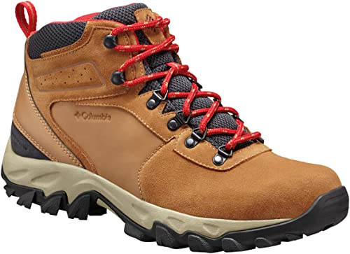 Columbia Men's Newton Ridge Plus II Suede Waterproof Waterproof Hiking Stiefel, Elk, Mountain rot, 9 Regular US