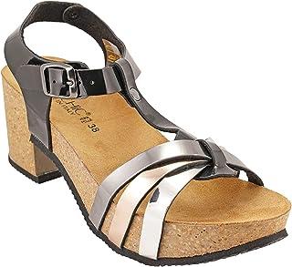 012-308 Biochic Ladies Sandals Metallic Grey