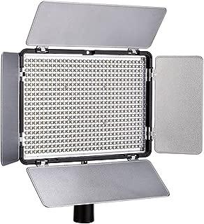 Polaroid Studio 1008 LED Video Box Light – BI-Color w/ LCD Display, IR Remote Control, Rechargeable NP-F550 Li-Ion Battery & Barn Doors – Adjustable Brightness & Color Temperature