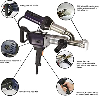 Weldy Ex2 Handheld Plastic Welding Extruder Extrusion Gun for PP HDPE LDPE -220V Extruder