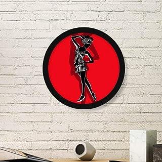 DIYthinker Plump Red de Arte Bella Pintura de la Foto del Cuadro Redondo de Madera del hogar del Marco Regalo decoración d...