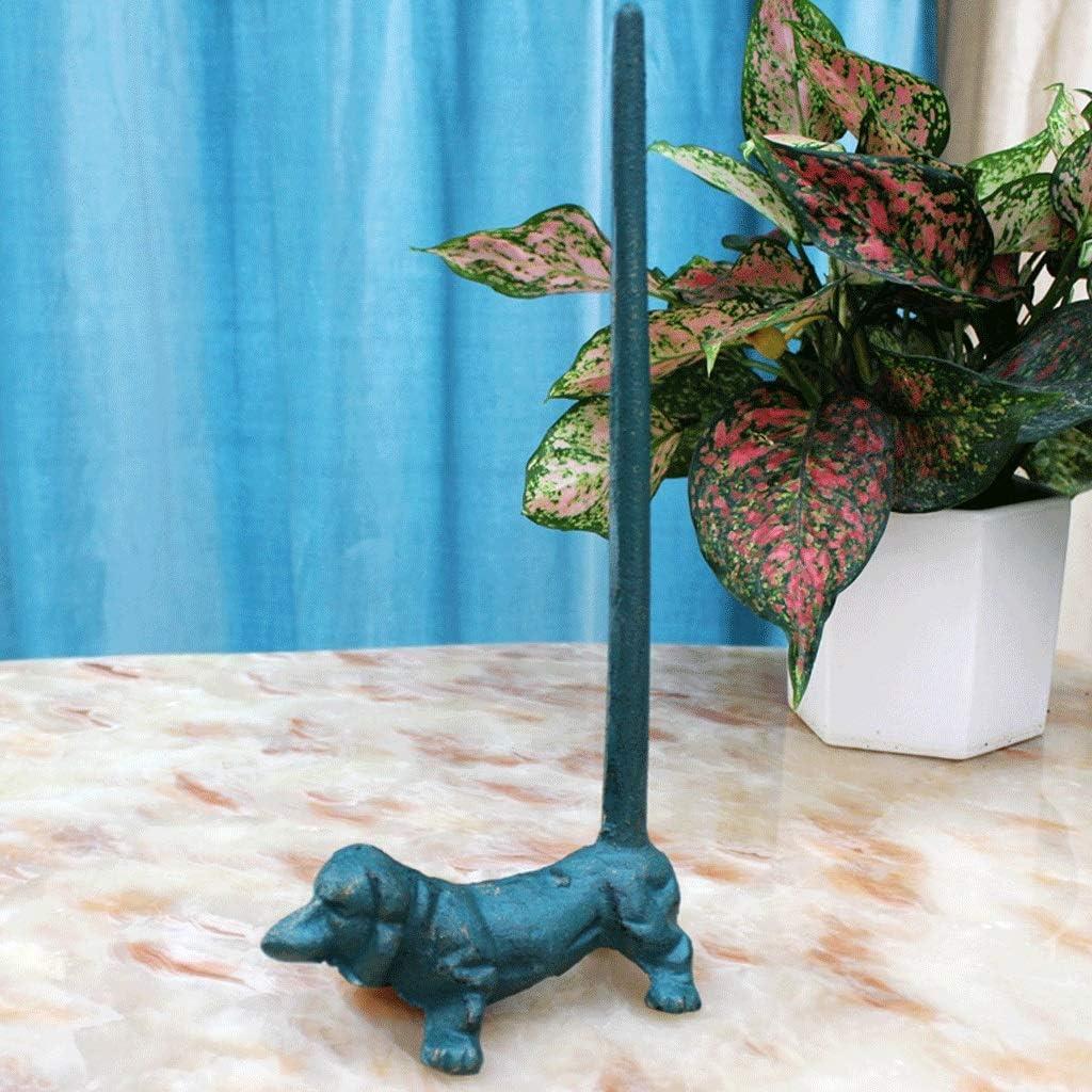 Regular New arrival discount JXSHQS Retro Cast Iron Puppy Paper Rack Towel De Kitchen Desktop