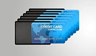 Card Armor Credit Card Holder, 6 Premium RFID Blocking Sleeves with Clear Front for Easy Viewing, Prevent Identity or Financial Theft from High Tech Thieves